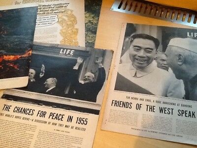 Assorted pages and articles Life magazine 1950s