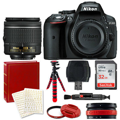 Nikon D5300 Digital SLR Camera +18-55mm AF-P DX Lens + 32GB + More Red Value Kit