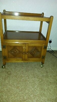 Light oak cupbard with 4 castors for easy movement. Excellent condition