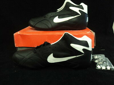 New Nike Football Cleats Cleat 15 Open Field 3/4 Black/white Shoes 116012