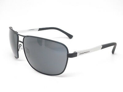 8c07b923c120 Authentic Emporio Armani EA 2033 309487 Black Rubber with Grey Sunglasses  EA2033