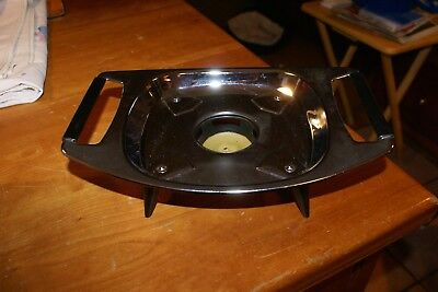 VINTAGE Stainless Buffet Chafer Food Serving Dish Warmer Frame Candle 2 HANDLES