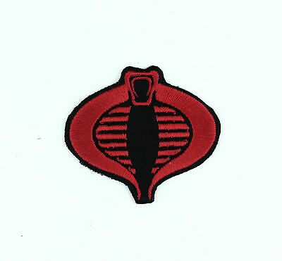 GI Joe Black Red Cobra Commander Iron-On Embroidered Patch NEW