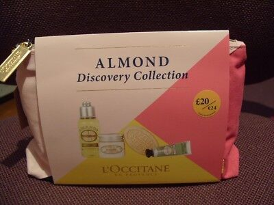 Brand new L'Occitane Almond Discovery Collection,4 items in travel bag RRP £20