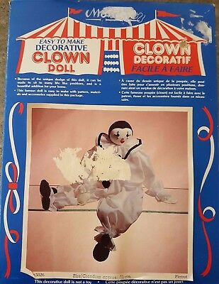 Vintage Make a Decorative Clown Doll Kit - Never Been Used by Montex (1983)