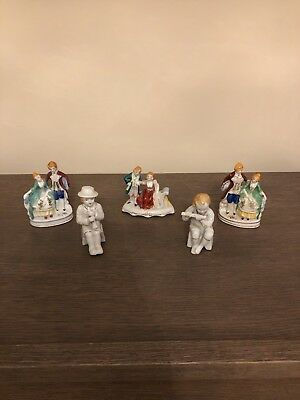 Made in Occupied Japan Figurines Lot of 5 Medium Great Shape
