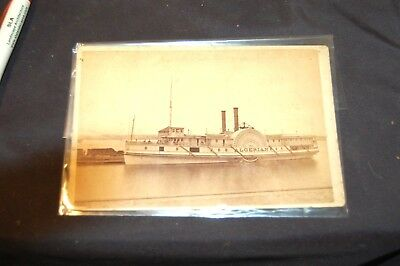antique cabinet card photo CW Kingston river boat no reserve must see!!