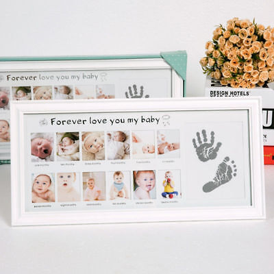 Natural Wood My First Year Newborn Baby Photo Frame Picture Show Gifts Keepsake