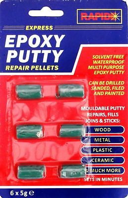 Waterproof Epoxy Putty Repair Pellets 6x5g Ceramic,Metal,Wood Plastic Etc Filler