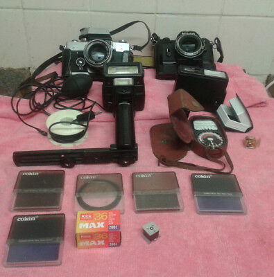 Bulk Lot Of Old Cameras And Accessories
