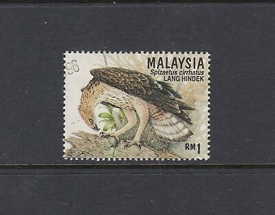 MALAYSIA: 1996 Birds of Prey $1 Perf 13½ SG 606b, very fine used.