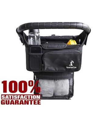 Spartan Five Stroller Organizer With 2 Cup Holders+More