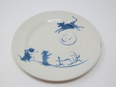 Sterling China East Liverpool OH Nursery Rhyme Baby Child Dish Hey Diddle Diddle