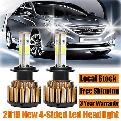 For Hyundai Sonata 2002-2014 LED H7 Headlight Driving Lights White Beam Bulbs 2x