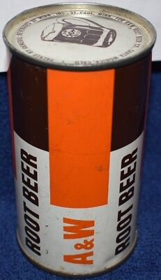 A&W Flat top soda can straight edge GREAT CONDITION