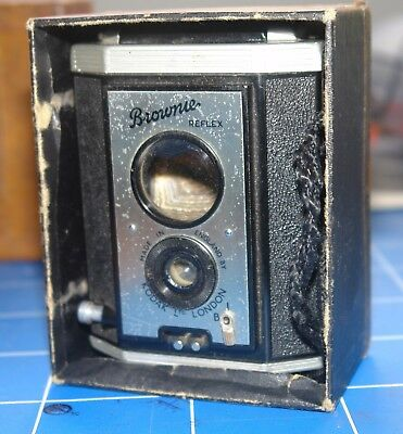 "KODAK ""Brownie Reflex"" Vintage camera and box"
