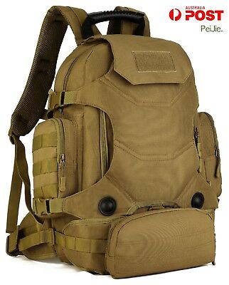 40L Waterproof Tactical Military MOLLE Assault Backpack Pack 3 Way Modular