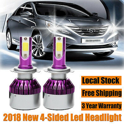 For Hyundai Sonata CREE LED H7 Headlight Driving Lights White Beam 2018 NEW Bulb