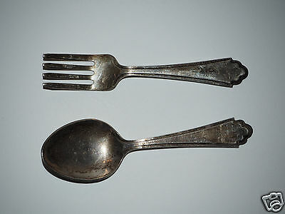 ROSEBUD Berry & Co. BABY FORK & SPOON * New Condition