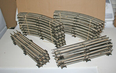 Lionel postwar 031 track, straights and curves