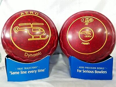 "AERO DYNAMIC LAWN BOWLS SIZE 4 HEAVY WEIGHT Z SCOOP GRIP ""Helicopter"""