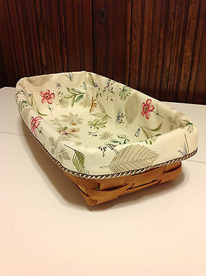 Bread Basket Liner from Longaberger Botanical Fields Fabric