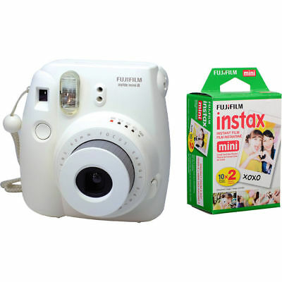 Fujifilm Instax Mini Film Plain White - Twin Pack (20pcs) For Mini 8 9 25 90 7