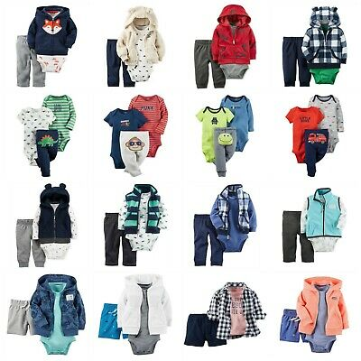 7fb48738d NWT S CARTER S BABY Boy 3 Piece Sherpa Vest Bodysuit Pants Set ...