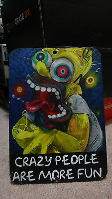Bam Box Crazy People Are More Fun Homer Simpson Metal Sign, The Simpsons