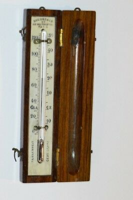 Early-Mid 19th Century Cased Traveling Thermometer by Bourgeois of Paris - Rare