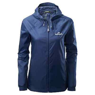 Kathmandu Pocket-it Womens Hooded Rain Jacket Light Packaway Coat v3