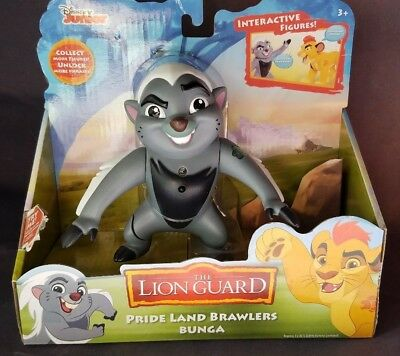 The Lion Guard Pride Land Brawlers Bunga Posable Interactive Figure New in box