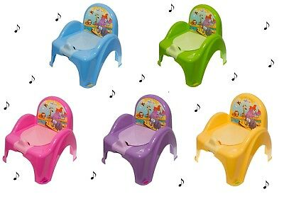 Pot toiletry musical armchair chair for baby child theme Animals Safari