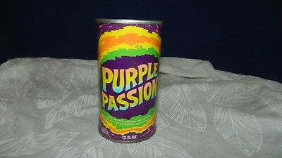 Vintage Purple Passion Soda by Canada Dry Flat Top Soda Can PSYCHE