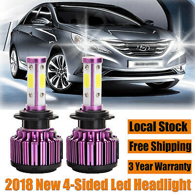 CREE LED H7 Headlight Driving Lamp Super White High/Low Beam For Hyundai Sonata