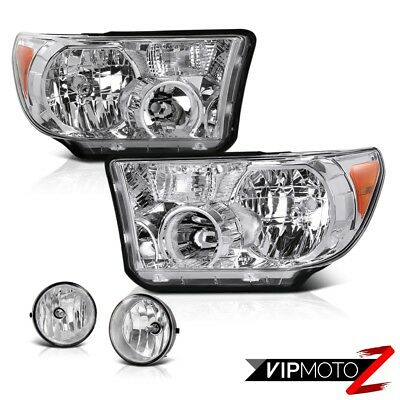 Toyota 07-13 Tundra Crystal Clear Headlight Lamp+Clear Fog Light+Wiring+Switch