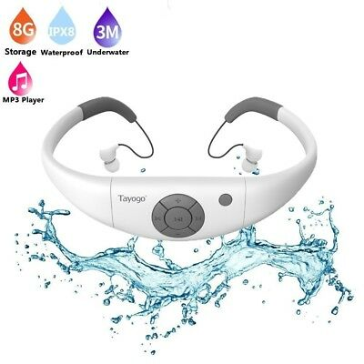 (White) - Tayogo 2016 Upgraded Waterproof Mp3 Player Headset Music Player, 8