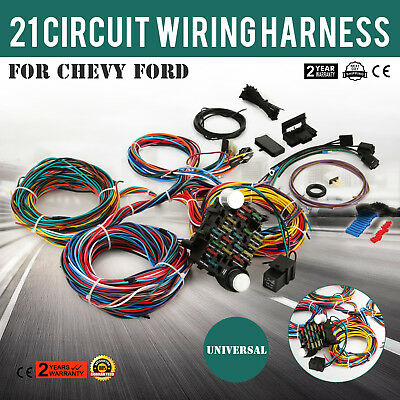 21 circuit ez wiring harness for chevy universal wires fit x long rh picclick com 2010 Chevy Malibu Radio Wiring Harness chevy universal wiring harness