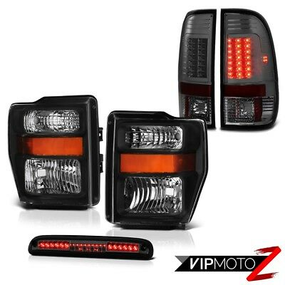 Left Right Headlamps Smoke Brake Tail Lights Third Cargo LED 2008-2010 Ford F350