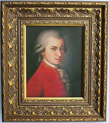 Mozart Framed Oleograph R511#E Reproduction Picture , Music, Composer