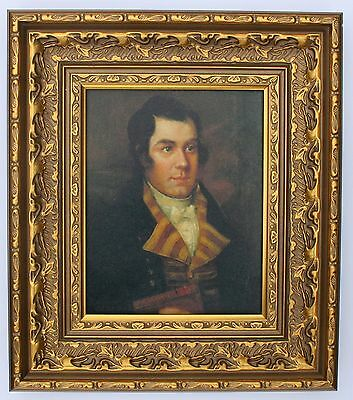 Robbie Burns Framed Oleograph R563#E Reproduction Picture , Art .