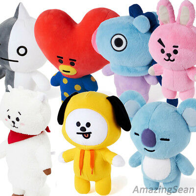 Official Bt21 Plush Doll, Bts Mang Chimmy Tata Van Cooky Rj Authentic Bt21 Kpop