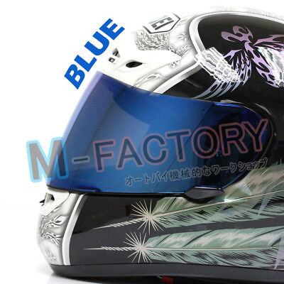 Iridium Blue Helmet Visor for SHOEI CX1-V X-11 Raid 2 XR1000 X Spirit Multitech
