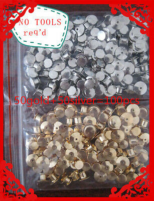 100 LOW PROFILE - Best Avail for LAPEL DISNEY Locking Pin Backs 50 each