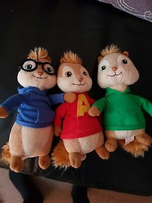Ty Beanie Alvin And The Chipmunks Soft Plush Toys