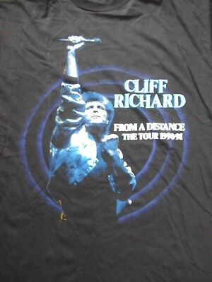 CLIFF RICHARD T shirt from a distance tour 90-91 vintage hipster collectable