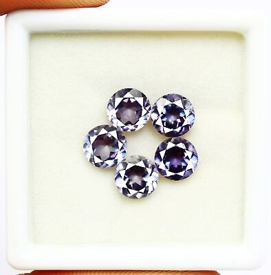 8.50Ct Certified Natural Shiny Color Changing Alexandrite Gems Lot 5Pcs AX4311