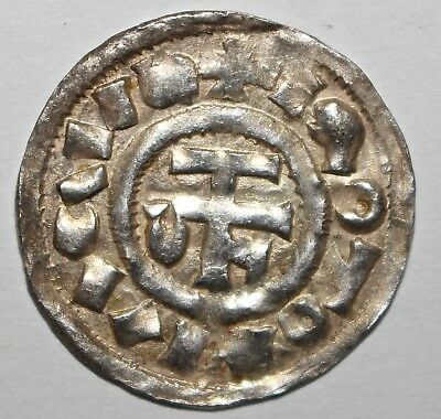France Normandy Richard I 943-996 AD AR Denier or Rouen D.18