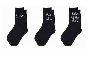 Black Cotton Wedding Socks, Father Of the Bride, Groom, Best Man, Page Boy,Usher