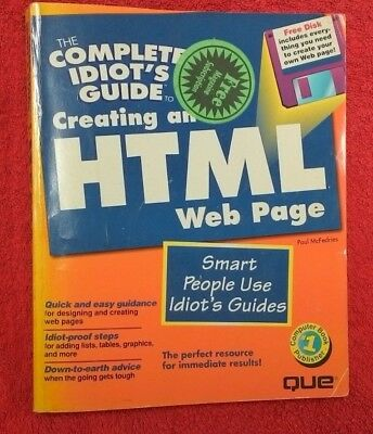 Complete Idiots Guide to Creating HTML Web Page. Includes Disk